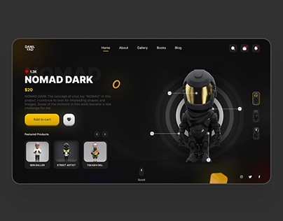 UI Design For Digital Sculpture Products