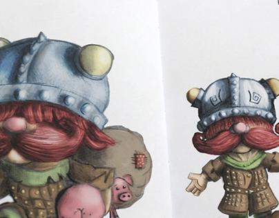 The Mini Viking | Character Design