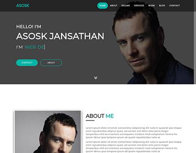 Asosk- Personal Portfolio HTML Template