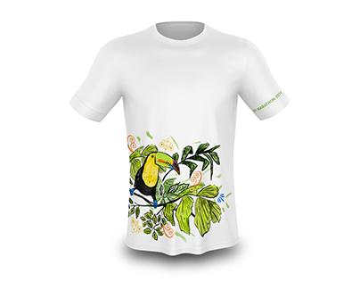 Camisa deportiva: Flora y Fauna.