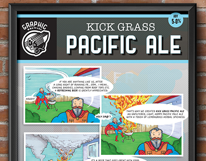 Layout Design: Poster for Graphic Brewing 'Kick Grass'
