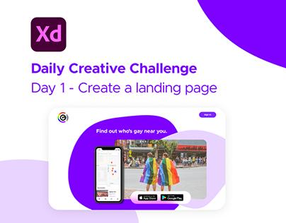 Gaydar Landing Page - XD Creative Challenge