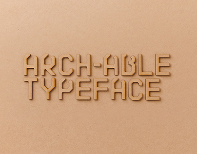 ARCH-ABLE - Typeface