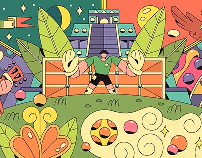 México / World Cup Google Doodle
