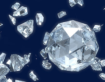 Diamond and crystal in Cinema 4d