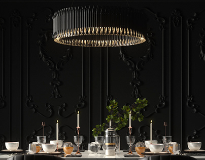 Black Mood Dinning Room
