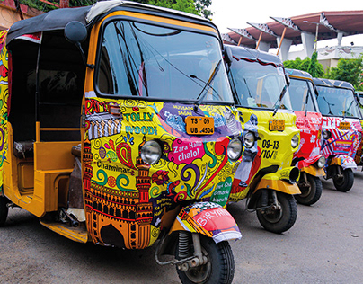 Hyderabad Design Week - Rickshaw Installation