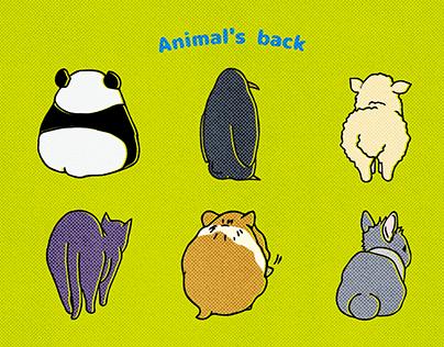どうぶつのせなか - Animal's back