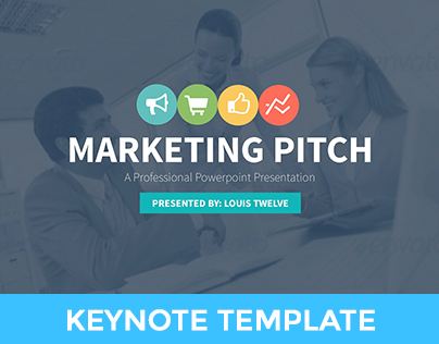 Marketing Slide Pitch Deck Keynote Template on Behance