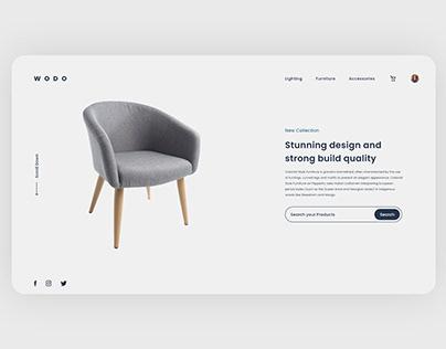 Furniture Web Landing Page