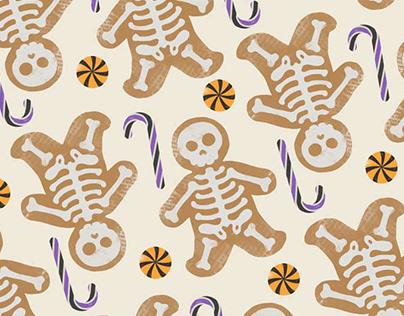 Gingerbread Halloween Pattern