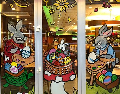 Window Painting - Westway Diner NYC