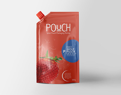 Free Spout Pouch Packaging Mockup