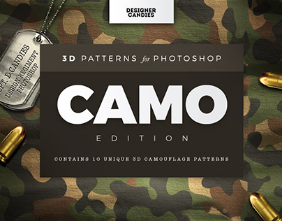 Camouflage Patterns for Photoshop