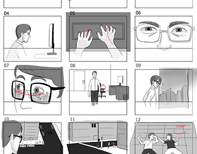 Facetime Commercial Pitch Storyboard