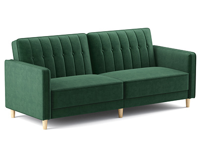 Dhp Pin Tufted Transitional Futon 3D model