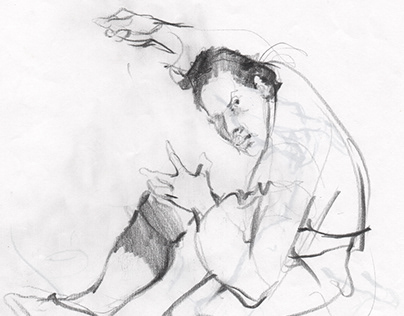 The sketch of a figure II, pencil drawing