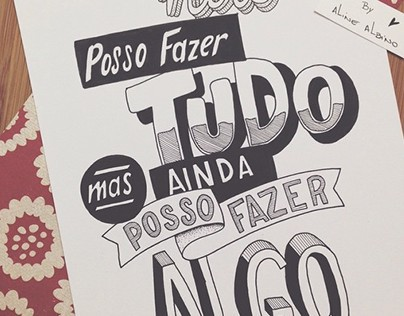 Hand Lettering - I cannot do everything