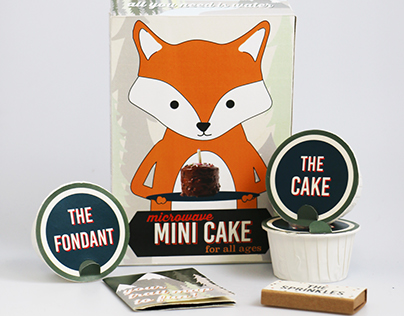 Microwave Mini Cake Kit Packaging Design