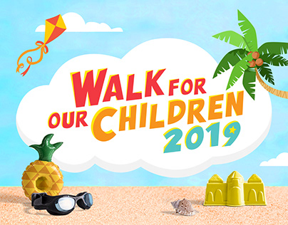 SCS Walk For Our Children Event Graphic Design