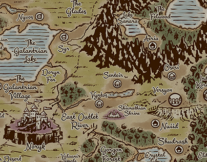 Dragon Speaker: Map of Allentria