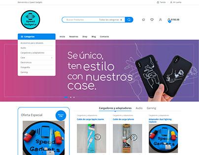 Diseño y desarrollo para speedgadgets.com.mx