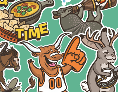 TexMessages - Texas Sticker Illustrations