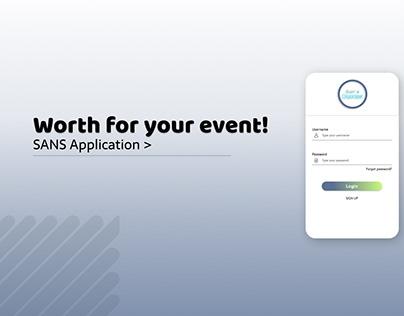 UI Design for SANS Mobile Application