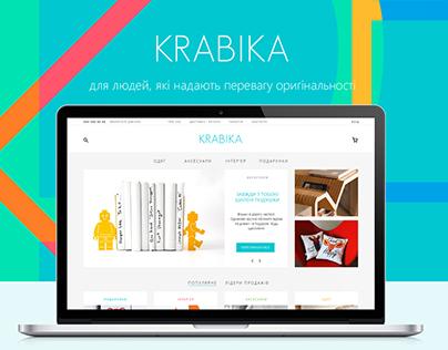Krabika - eCommerce website