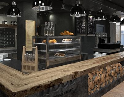 3d animation Restaurant Bistro