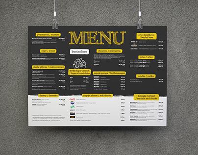 FAST FOOD RESTAURANT | Hotel Restaurant Menu