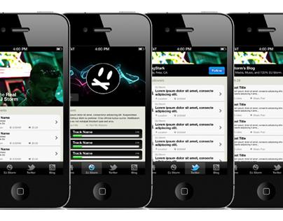 DJ Storm iPhone Application