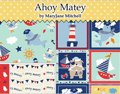 Ahoy Matey Fabric Collection