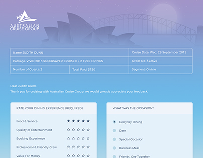 Australian Cruise Group - Customer Survey Form