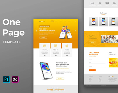 One Pages Template – Technology & Gadget Website