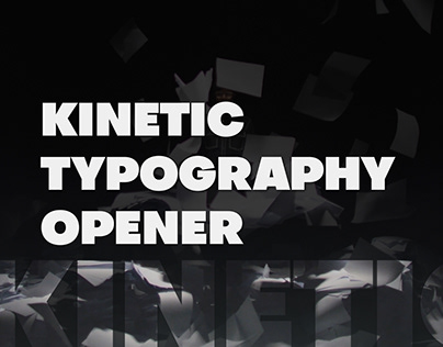 Kinetic Typography Opener - After Effects Template