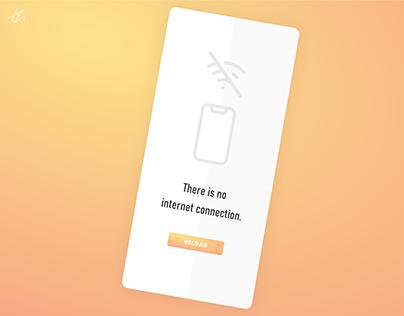No internet connection · Screen concept