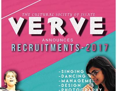 VERVE recruitment poster