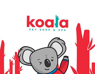 KOALA PET SHOP Branding Logo