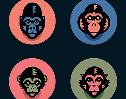 Monkey icons