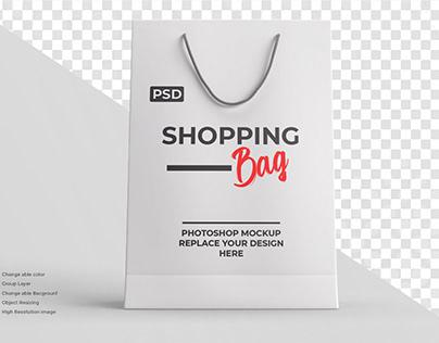 Shopping bag mockup editable color