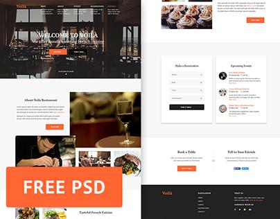 Voila Restaurant - Free PSD web template
