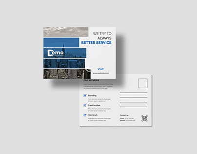 Corporate Business Double Sided Professional Postcard