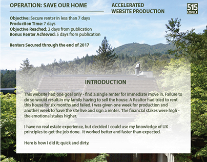 Using UX Design to Save Family Home... In ONE WEEK!