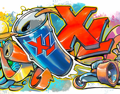 XL Energy Graffiti Art
