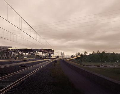 Népliget Railway Station   Cinemagraph