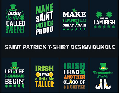 Saint patrick day t-shirt design bundle