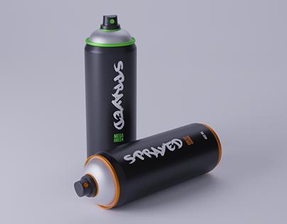 SPRAYED - Paint spray cans