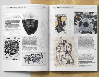 Spliced Editorial Layouts