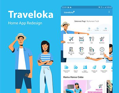 Traveloka App HomeScreen Redesign